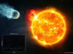 Kızıl cüce yıldızın çevresindeki gezegenin tasviri